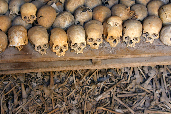 Victims of the 1994 Rwandan genocide.